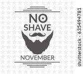 no shave november vector...   Shutterstock .eps vector #635494781