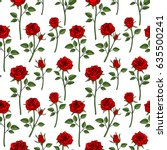 floral english victorian... | Shutterstock .eps vector #635500241
