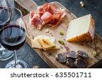 Platter With Spanish Ham Jamon...