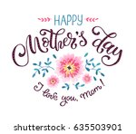 happy mother day greeting card... | Shutterstock .eps vector #635503901