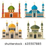 arabic muslim mosques and... | Shutterstock .eps vector #635507885