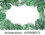 exotic tropical jungle... | Shutterstock .eps vector #635508371