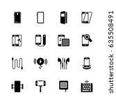 smartphone accessories vector... | Shutterstock .eps vector #635508491