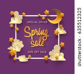 vector purple background with... | Shutterstock .eps vector #635512325