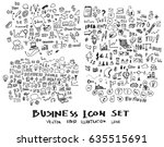 business doodles sketch vector... | Shutterstock .eps vector #635515691