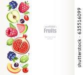 fresh healthy fruits background ...   Shutterstock .eps vector #635516099