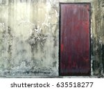 rusty door with concrete wall | Shutterstock . vector #635518277