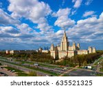 a landscape view of the sunny... | Shutterstock . vector #635521325