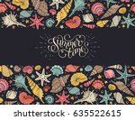 summer time horizontal banner.... | Shutterstock .eps vector #635522615
