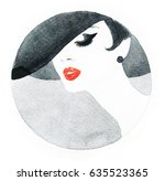 elegant lady. fashion... | Shutterstock . vector #635523365
