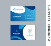 business card design trendy... | Shutterstock .eps vector #635527949