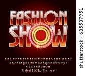 vector gold logo fashion show.... | Shutterstock .eps vector #635537951