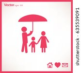 flat icon family. under the... | Shutterstock .eps vector #635539091