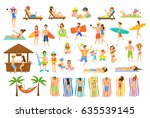 collection of people have fun... | Shutterstock .eps vector #635539145