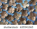 Floral Background  Dried Brown...