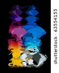 abstract form  design elements  ... | Shutterstock .eps vector #63554155