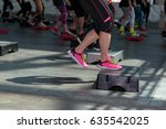 fitness workout in gym  women...   Shutterstock . vector #635542025