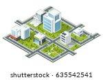 isometric vector illustration... | Shutterstock .eps vector #635542541