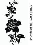 flower motif sketch for design  | Shutterstock .eps vector #635545877