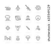 World War Vector Line Icons ...