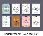 mobile invitation card   save... | Shutterstock .eps vector #635551451