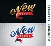 new product vector premium hand ... | Shutterstock .eps vector #635554859