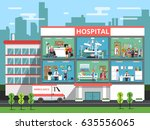 hospital rooms with medical... | Shutterstock .eps vector #635556065