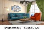interior living room. 3d... | Shutterstock . vector #635560421