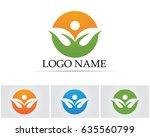leave green logo nature | Shutterstock .eps vector #635560799