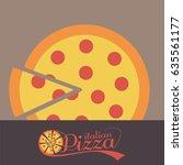 pizza packaging design  | Shutterstock . vector #635561177