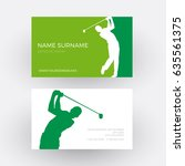 vector abstract golf club... | Shutterstock .eps vector #635561375