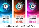 brochure template  flyer design ... | Shutterstock .eps vector #635561795