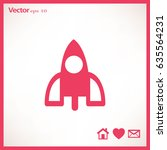 rocket icon | Shutterstock .eps vector #635564231
