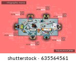 infograph background template... | Shutterstock .eps vector #635564561
