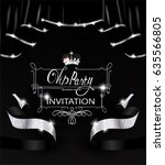 vip invitation card with black... | Shutterstock .eps vector #635566805