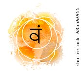 svadhisthana chakra on orange...