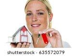 an agent for property with a... | Shutterstock . vector #635572079