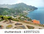 ravello  panoramic view of... | Shutterstock . vector #635572121