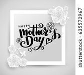 happy mother's day banner.... | Shutterstock .eps vector #635572967
