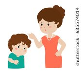 mother angry at her son and... | Shutterstock .eps vector #635574014