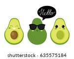 Cute  Avocado Characters....