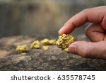 the pure gold ore found in the... | Shutterstock . vector #635578745