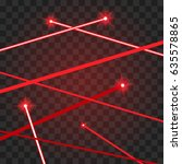 abstract red lasers beams on a... | Shutterstock .eps vector #635578865