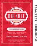 sale flyer or poster design... | Shutterstock .eps vector #635579981