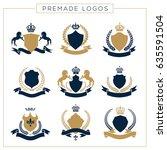 luxury logo set. brand identity ...   Shutterstock .eps vector #635591504