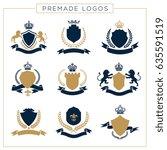 luxury logo set. brand identity ... | Shutterstock .eps vector #635591519