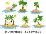 tropical island collection set | Shutterstock .eps vector #635594639