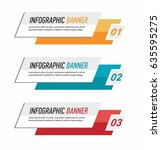 info graphic colorful banners... | Shutterstock .eps vector #635595275