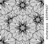 vector abstract ethnic mandala... | Shutterstock .eps vector #635599637
