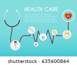 abstract medical icon with... | Shutterstock .eps vector #635600864